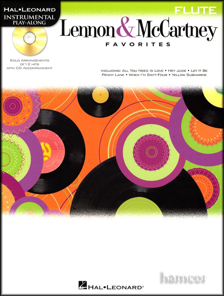 The Beatles Lennon & McCartney Favorites Flute Sheet Music Book & Play-Along CD Enlarged Preview