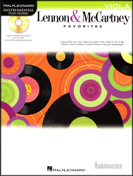 The Beatles Lennon & McCartney Favorites Viola Sheet Music Book & Play-Along CD Enlarged Preview