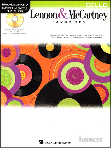 The Beatles Lennon & McCartney Favorites Cello Sheet Music Book & Play-Along CD Enlarged Preview