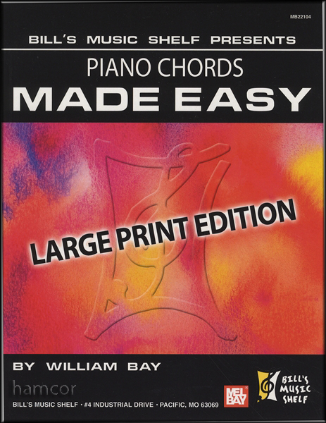 Piano Chords Made Easy Large Print Edition Piano / Keyboard Chord ...