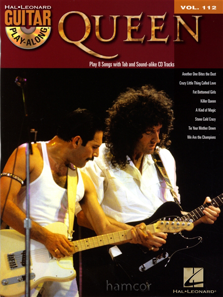 Queen Guitar Play-Along Vol 112 TAB Book with CD Learn to Play Songs Brian May Enlarged Preview