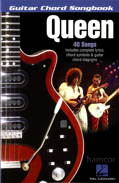 Queen Guitar Chord Songbook 40 Songs Greatest Hits Best of Brian May Enlarged Preview