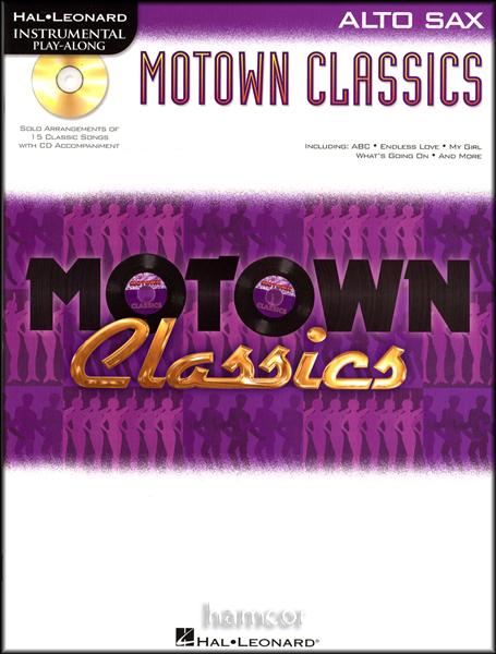 Motown Classics Alto Sax Saxophone Instrumental Play-Along Sheet Music Book & CD Enlarged Preview