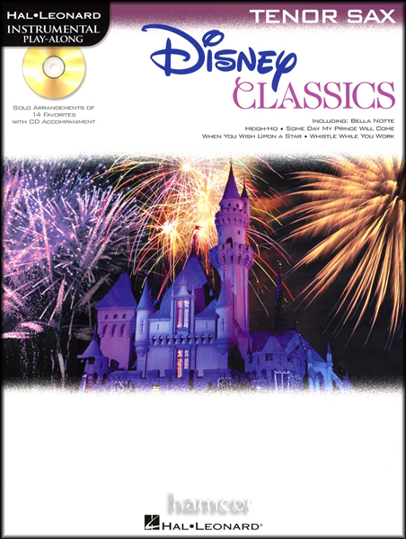 Disney Classics Tenor Sax Saxophone Instrumental Play-Along Sheet Music Book &CD Enlarged Preview