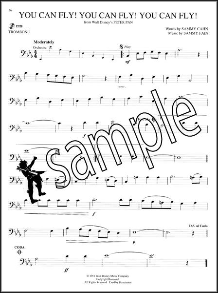 disney classics trombone instrumental play along sheet music book with cd ebay. Black Bedroom Furniture Sets. Home Design Ideas