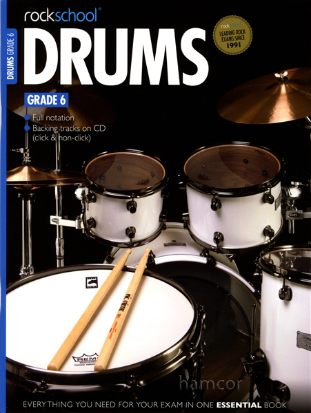Rockschool Drums Grade 6 2012-2018 Exam Sheet Music Book with CD Enlarged Preview