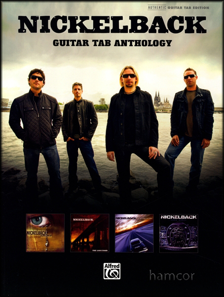 Nickelback Guitar TAB Anthology Rock Sheet Music Book 15 Songs from 4 Albums Enlarged Preview