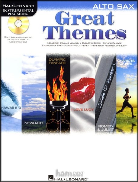 great themes alto sax instrumental playalong sheet music