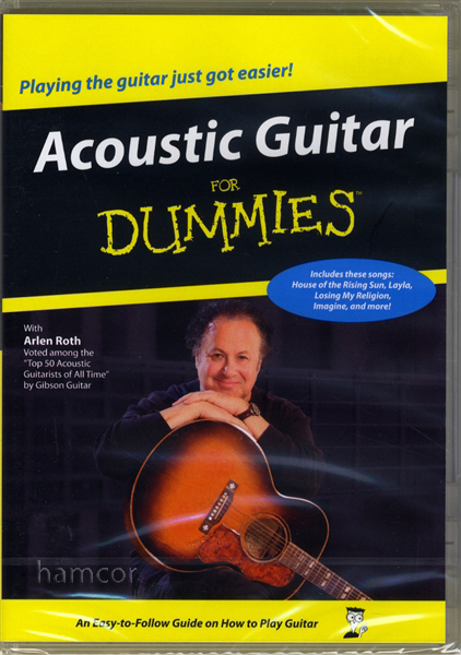 acoustic guitar for dummies dvd learn how to play beginner lessons by arlen roth