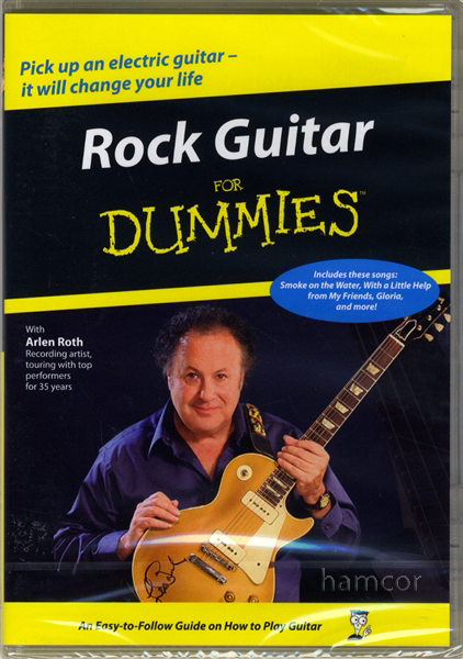 rock guitar for dummies dvd learn how to play 32 beginner lessons by arlen roth ebay. Black Bedroom Furniture Sets. Home Design Ideas
