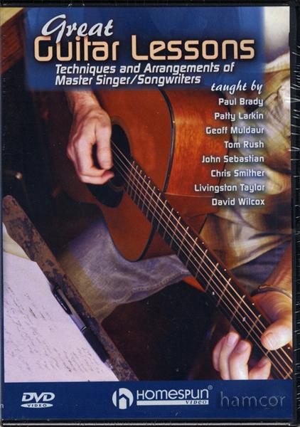 great guitar lessons dvd techniques arrangements of master singer songwriters ebay. Black Bedroom Furniture Sets. Home Design Ideas