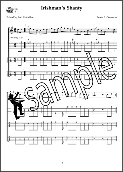 Banjo banjo tabs irish : Early Irish-American Banjo TAB Music Book/CD 5-String or 4-String ...