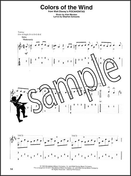 Disney Songs for Classical Guitar Music Book u0026 TAB Acoustic Fingerpicking : eBay