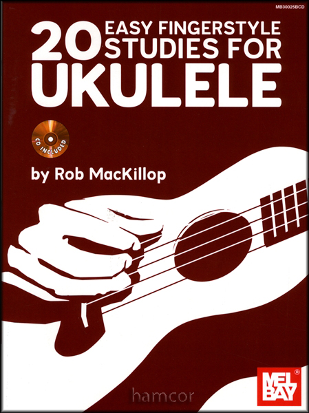 20 Easy Fingerstyle Studies for Ukulele TAB Music Book/CD Rob MacKillop : eBay