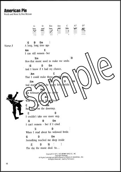 ukulele sing along songs chord songbook american pie sweet caroline runaway ebay. Black Bedroom Furniture Sets. Home Design Ideas