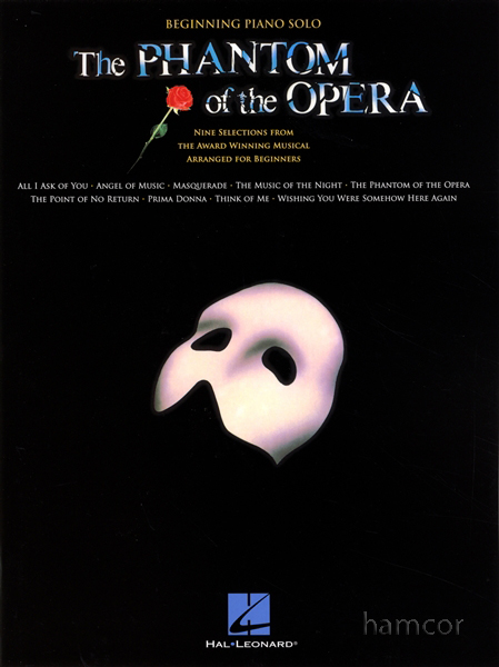 The phantom of the opera beginning piano solo very easy sheet music