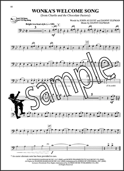 ultimate movie instrumental solos trombone sheet music book play along cd ebay. Black Bedroom Furniture Sets. Home Design Ideas