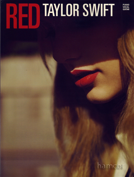 Taylor Swift Red Piano Vocal Guitar Sheet Music Book Enlarged Preview