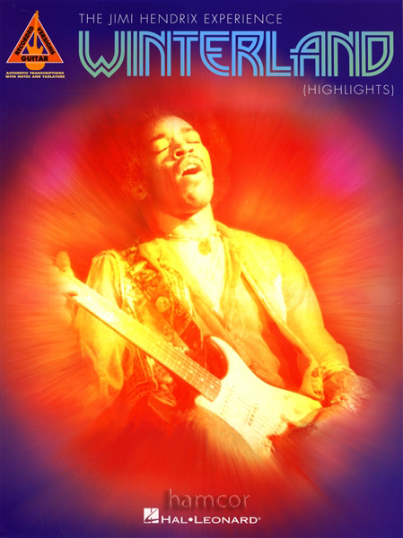The Jimi Hendrix Experience Winterland Highlights Guitar TAB Book Enlarged Preview
