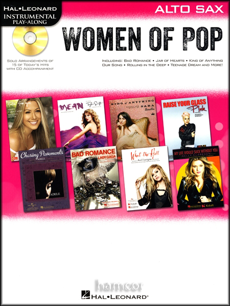 Women of Pop Play-Along Alto Sax Muisic Book/CD Adele Pink Beyonce Taylor Swift Enlarged Preview