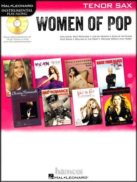 Women of Pop Play-Along Tenor Sax Muisic Book/CD Adele Pink Beyonce Taylor Swift Enlarged Preview