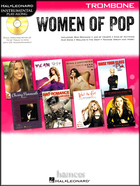 Women of Pop Play-Along Trombone Muisic Book/CD Adele Pink Beyonce Taylor Swift Enlarged Preview