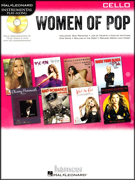 Women of Pop Play-Along Cello Muisic Book/CD Adele Pink Beyonce Taylor Swift Enlarged Preview