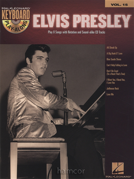 Elvis Presley Keyboard Play-Along Vol 15 Sheet Music Book/CD Set Enlarged Preview