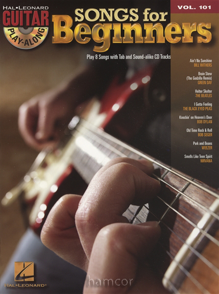 songs for beginners guitar play along vol 101 tab book cd green day beatles ebay. Black Bedroom Furniture Sets. Home Design Ideas