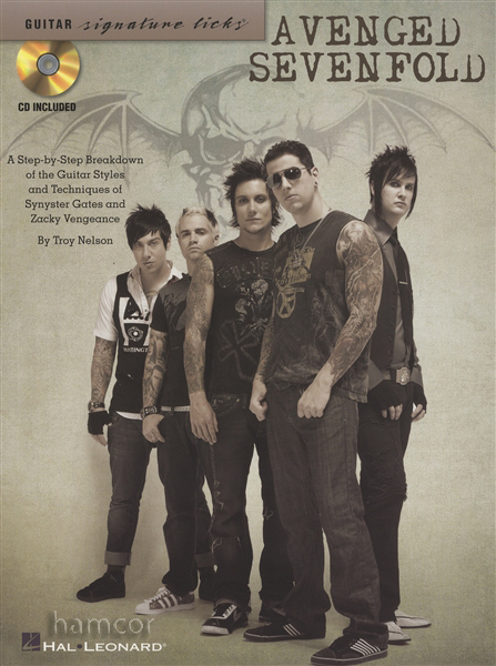 Avenged Sevenfold Guitar Signature Licks TAB Book Synyster Gates Zacky Vengeance Enlarged Preview