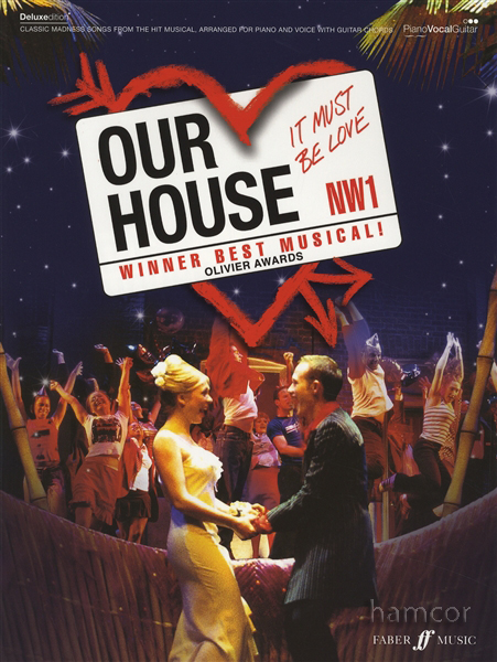 Our house the musical piano vocal guitar sheet music book for 90s vocal house
