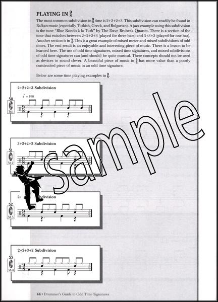 drummer 39 s guide to odd time signatures drum music book cd rick landwehr ebay. Black Bedroom Furniture Sets. Home Design Ideas