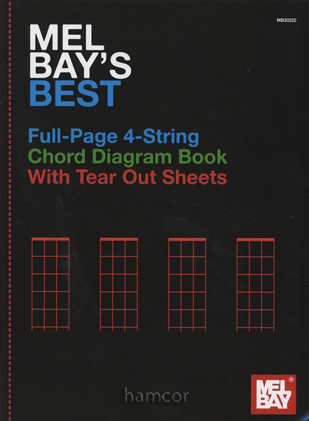 Mel Bay's Best Full-Page 4-String Chord Diagram Book Ukulele Mandolin Banjo Enlarged Preview