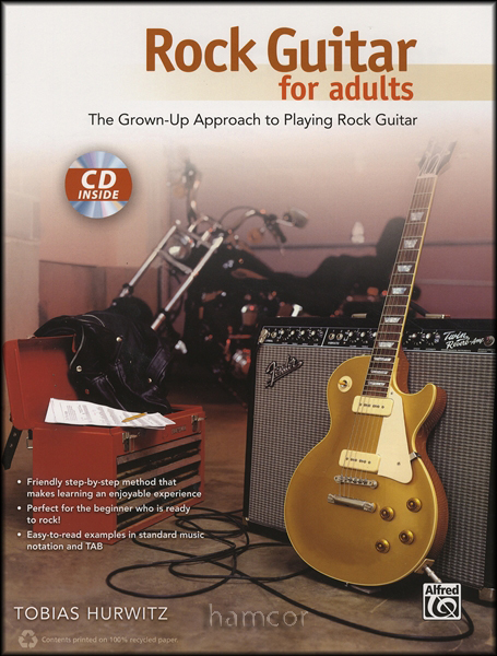 rock guitar for adults tab book cd learn how to play method for beginners ebay. Black Bedroom Furniture Sets. Home Design Ideas