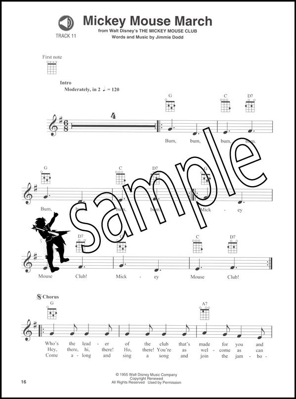 Disney Favorites Ukulele Play-Along Chord Melody Songbook with Backing Tracks CD : eBay