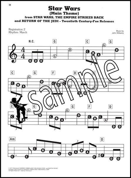 Star Wars E Z Play Today Very Easy Piano Keyboard Sheet