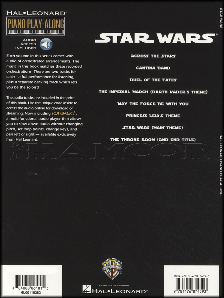 how to play star wars on piano notes