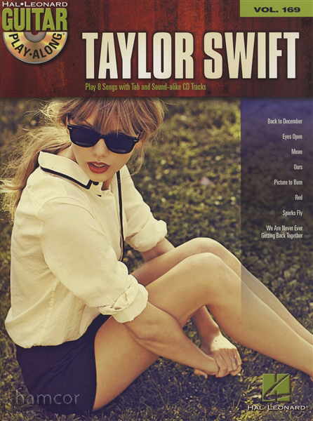 Taylor Swift Guitar Play-Along Volume 169 TAB Music Book with Backing Tracks CD Enlarged Preview