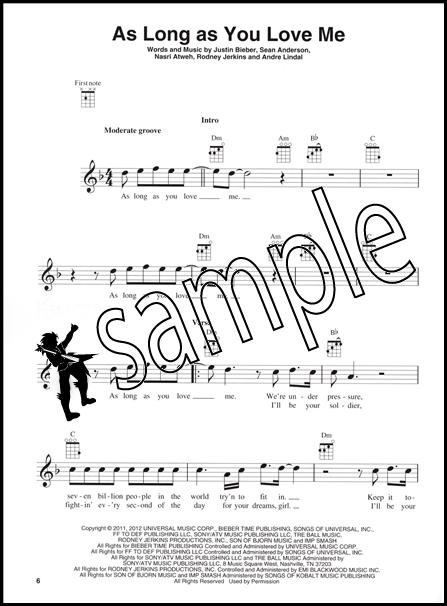 Justin Bieber for Ukulele Chord u0026 Melody Songbook Music Book : eBay