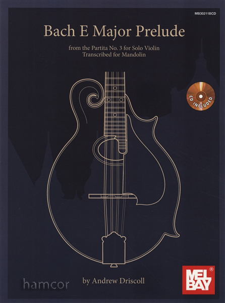 Bach E Major Prelude for Mandolin TAB u0026 Music Book/CD : eBay