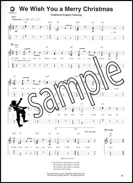 Christmas Carols Mandolin Play-Along Volume 9 TAB Music Book ...