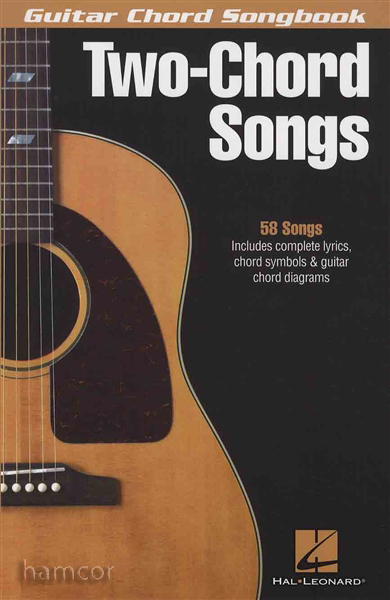Simple Book Cover Guitar ~ Two chord songs guitar songbook very easy music book