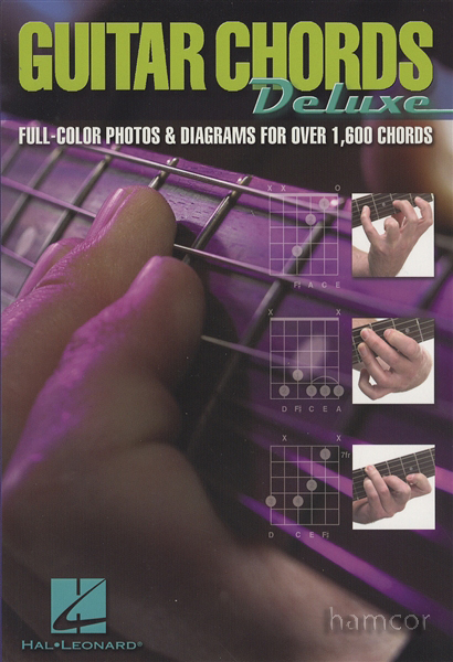 Guitar Chords Deluxe Full Colour Photo Chord Book Enlarged Preview