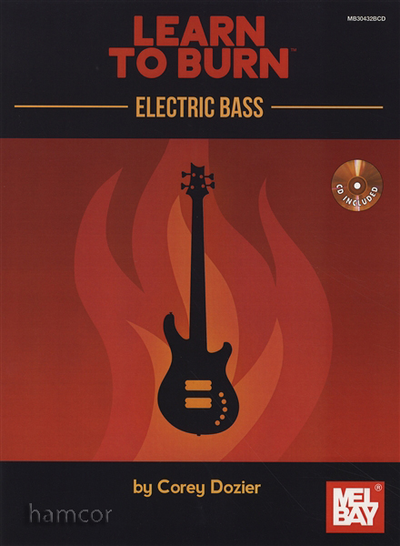 learn to burn electric bass guitar tab music book cd warm ups scales chords ebay. Black Bedroom Furniture Sets. Home Design Ideas