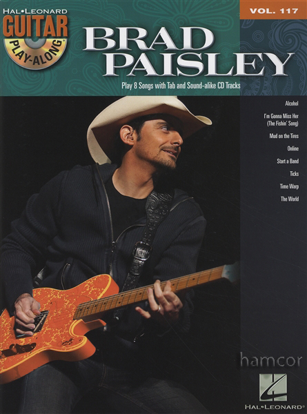 brad paisley guitar play along vol 117 tab music book backing tracks cd ebay. Black Bedroom Furniture Sets. Home Design Ideas