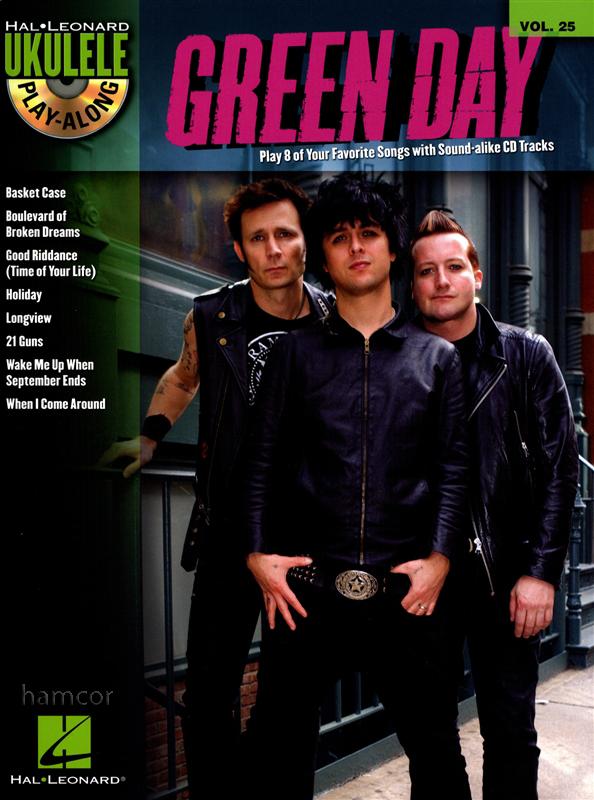 Green Day Ukulele Play-Along Chord Melody Songbook u0026 Backing Tracks CD : eBay
