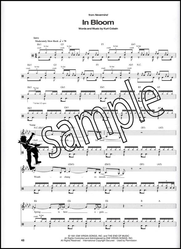 Drum u00bb Nirvana Drum Tabs - Music Sheets, Tablature, Chords and Lyrics