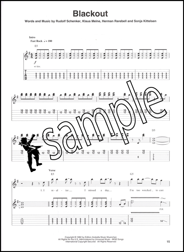 scorpions guitar play along tab music book backing tracks cd ebay. Black Bedroom Furniture Sets. Home Design Ideas