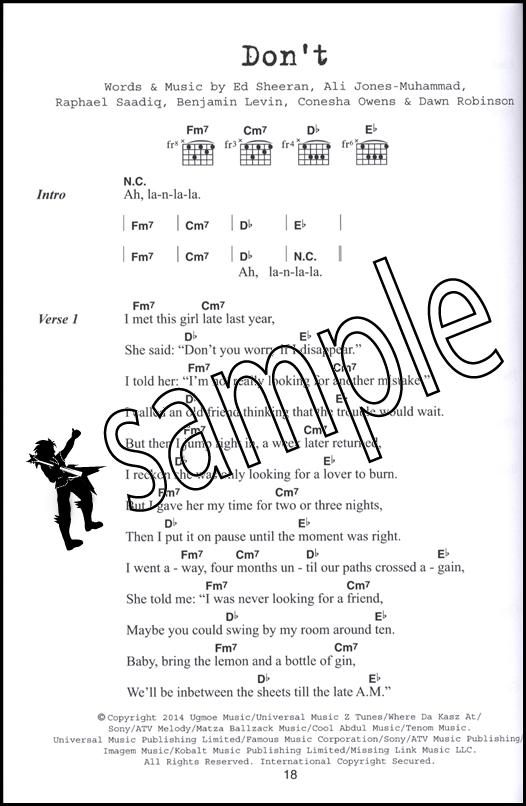 Ed Sheeran Guitar Chord Songbook : eBay