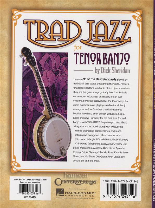Trad Jazz for Tenor Banjo 4-String TAB Music Book/CD Traditional Jazz Standards : eBay